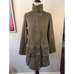 Mossimo Army Green Utility Trench Coat Small S